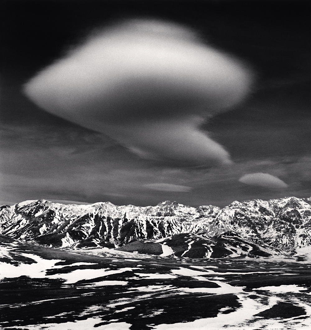 Michael Kenna, Curious Cloud, Campo Imperatore, Abruzzo, Italy. 2016