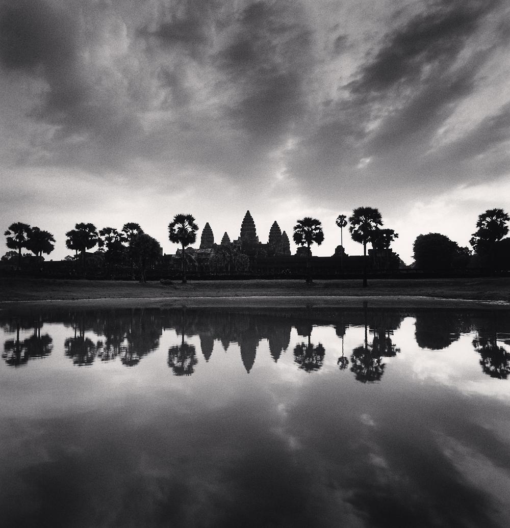 Michael Kenna, Daybreak Reflection, Angkor Wat, Cambodia, 2018
