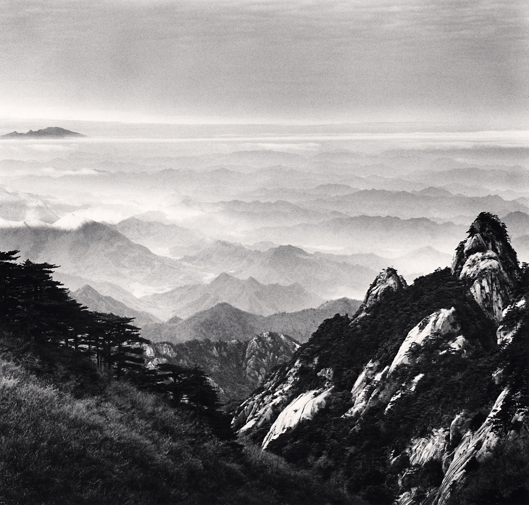 Michael Kenna, Huangshan Mountains, Study 51, Anhui, China. 2017