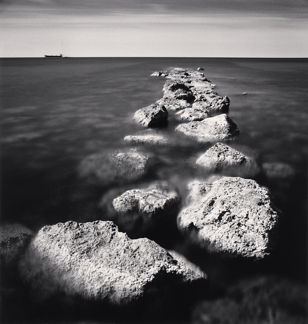 Michael Kenna, Jetty and Waiting Ship, Palma, Mallorca, Spain. 2017