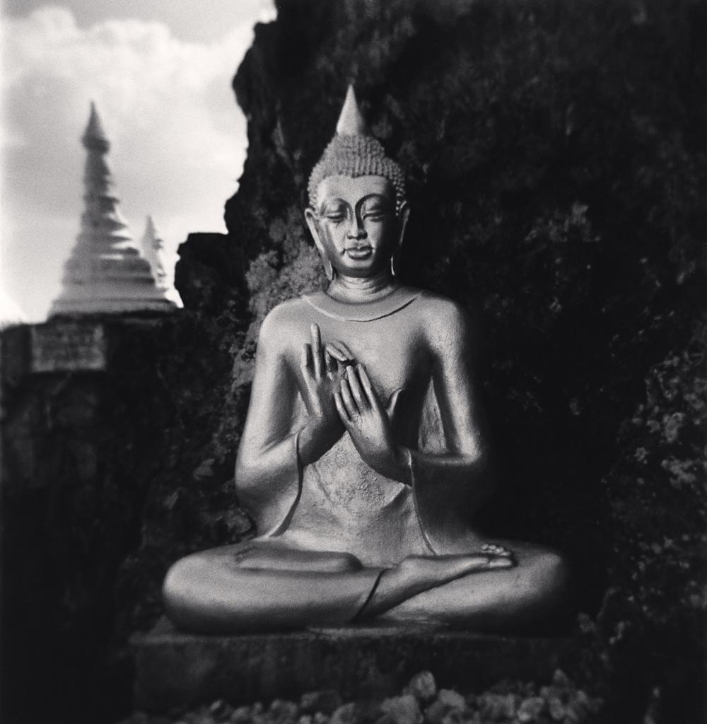 Michael Kenna, Mountaintop Buddha, Pindaya, Myanmar, 2019