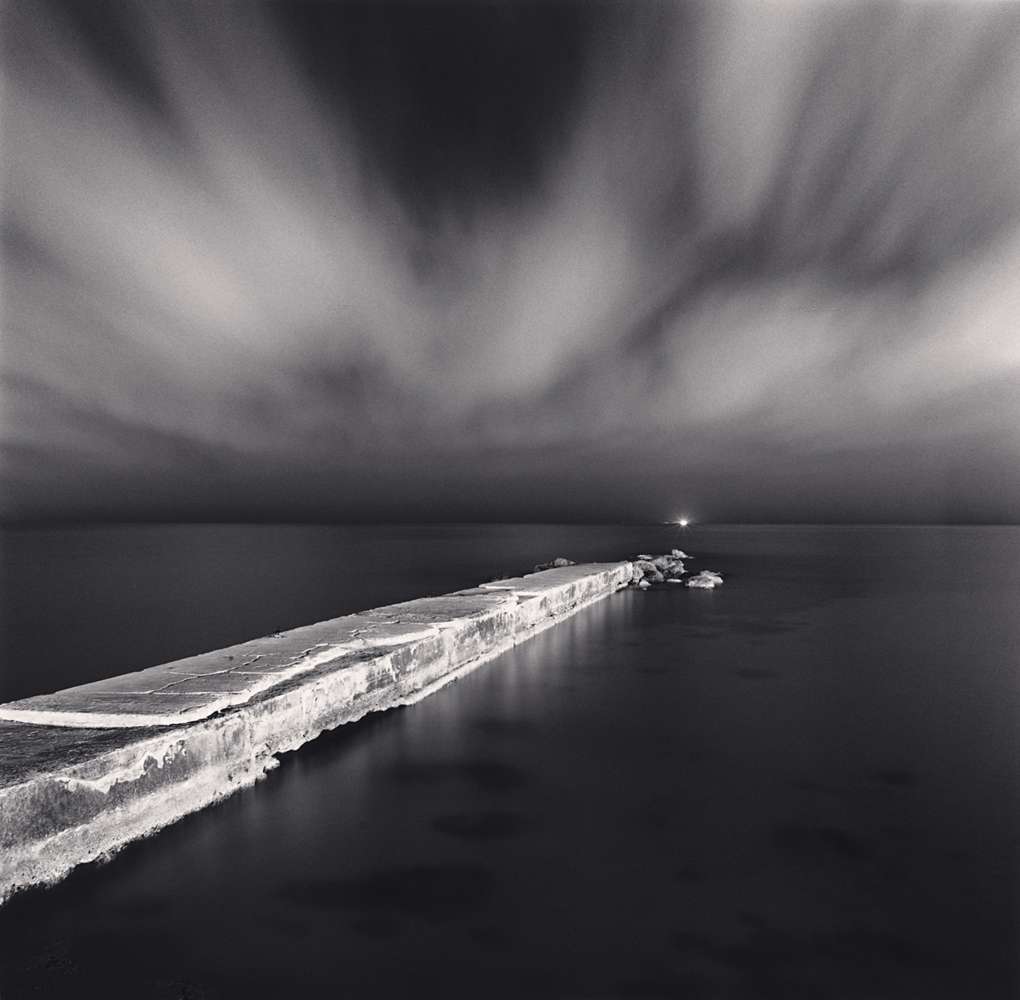 Michael Kenna, Night Pier, Palma, Mallorca, Spain. 2017
