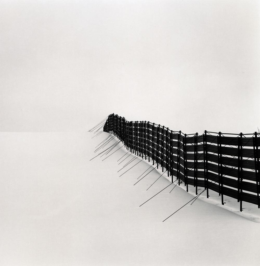 Michael Kenna, Prolonged Snow Fence, Teshikaga, Hokkaido, Japan, 2007