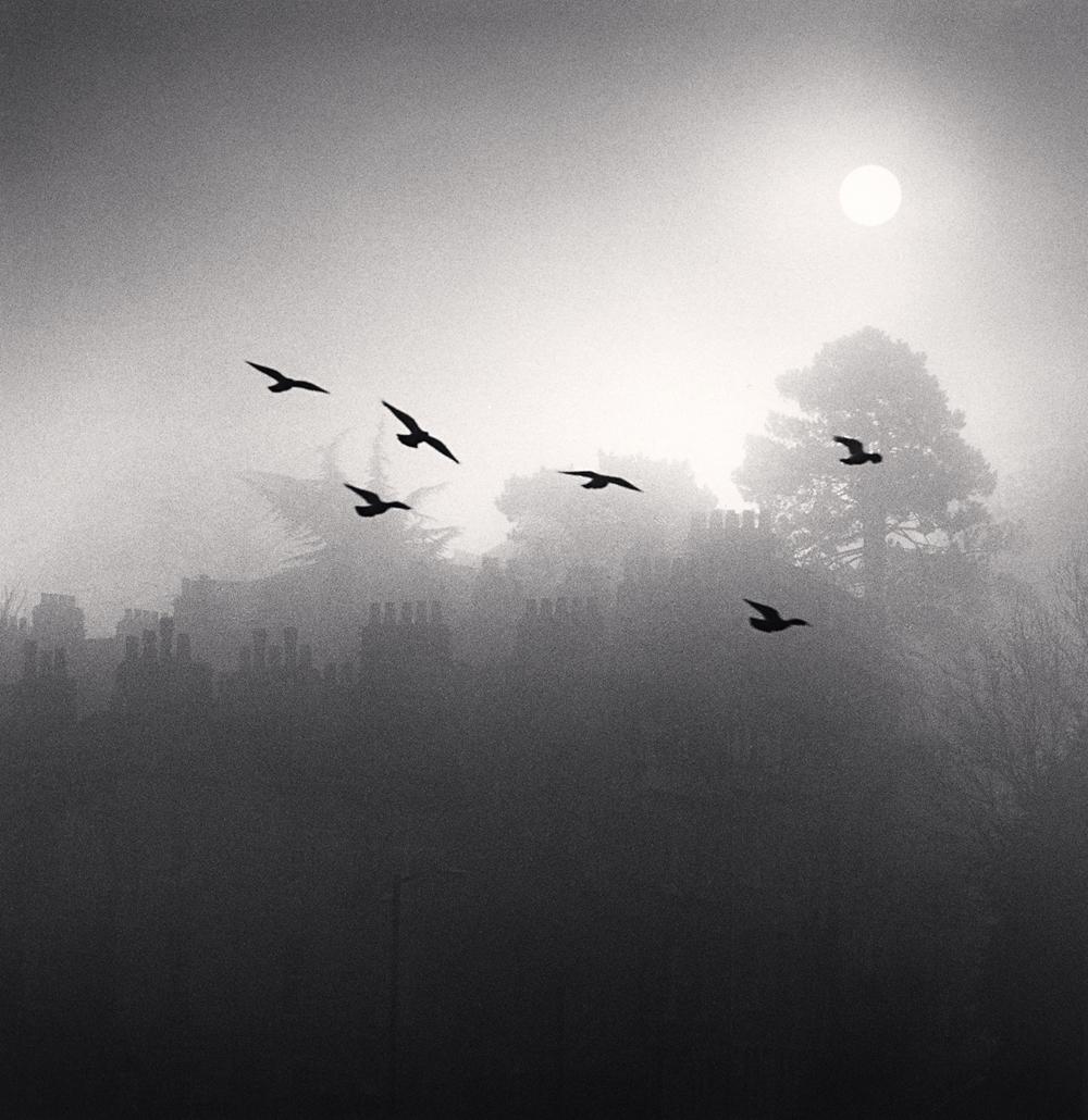 Michael Kenna, Six Flying Birds, Bath, Avon, England, 1987