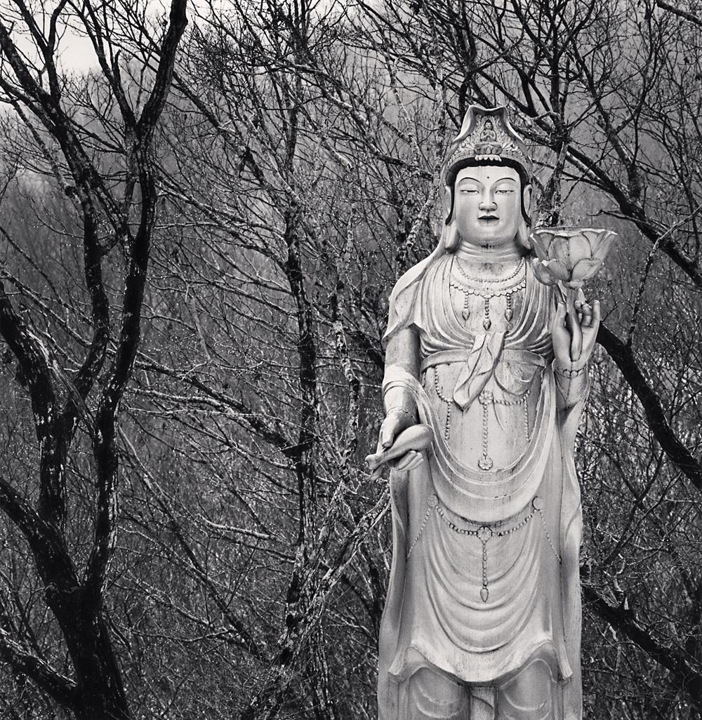 Michael Kenna, Standing Buddha, Cheonwangsa Temple, Jeju Island, South Korea, 2012