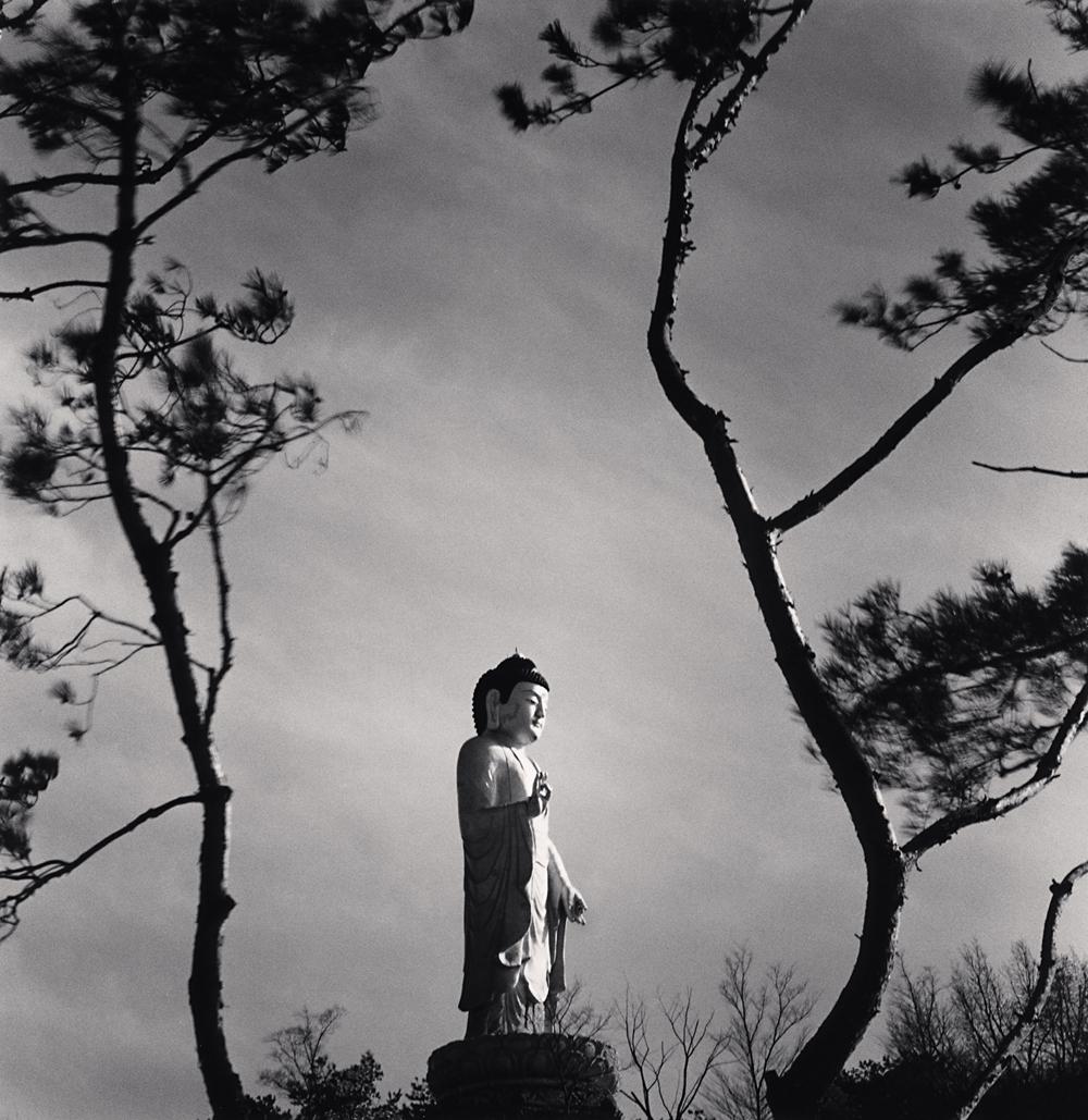 Michael Kenna, Standing Buddha, Manbulsa Temple, Yeongcheon, Gyeongsangbuk-do, South Korea, 2018