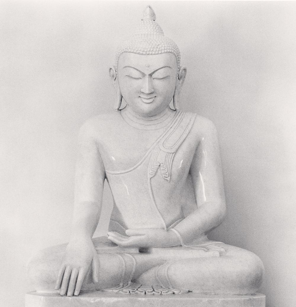 Michael Kenna, White Buddha, Kalaw, Myanmar, 2019