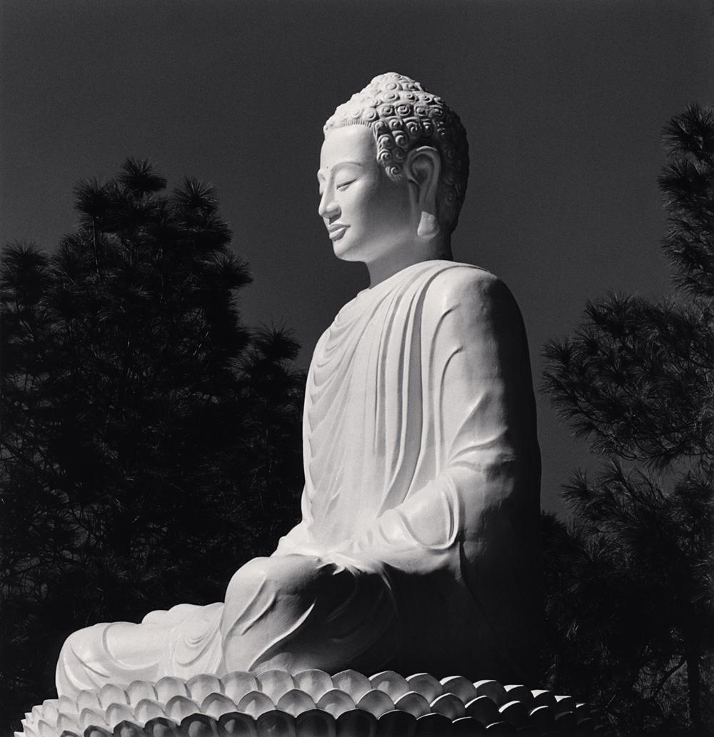 Michael Kenna, White Buddha, Phuac Hoa Pagoda, Hue, Vietnam, 2019