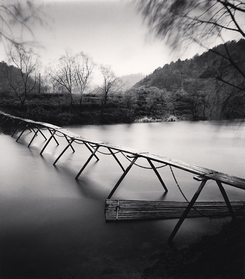 Michael Kenna, Wooden Bridge, Study 2, Tuokou Village, Jiangxi, China. 2017