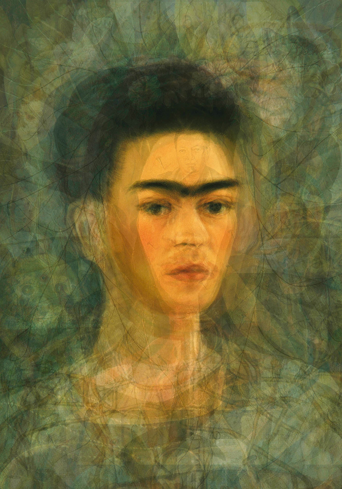 Doug Keyes, Frida Kahlo, 2012, archival pigment prints, edition of 7, 20 x 14 inches, price on request