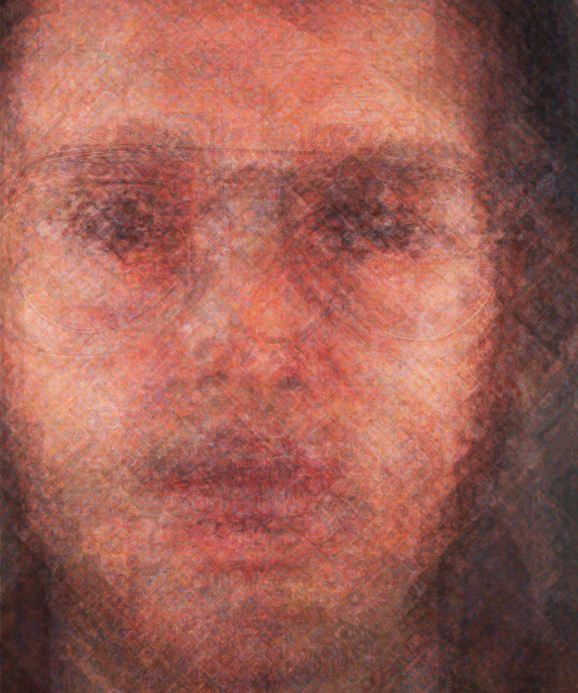 Doug Keyes, Chuck Close, 2014, archival pigment print, edition of 7, 30 x 25 inches, face mounted to plex, price on request
