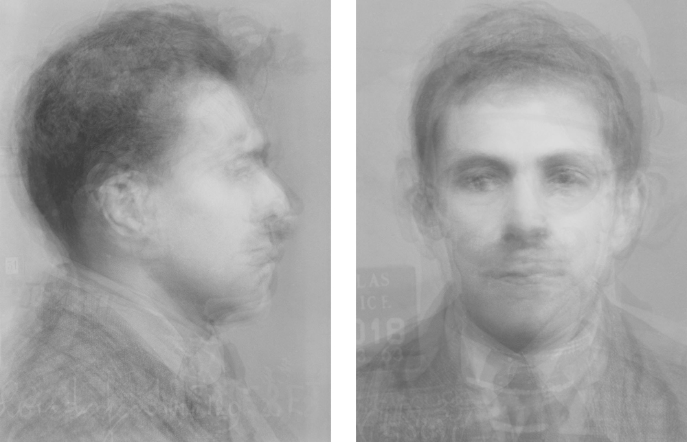 Doug Keyes, Mug Shots, 2014, archival pigment prints, edition of 7, 2 – 12 x 9 inch prints, face mounted to plex, price on request