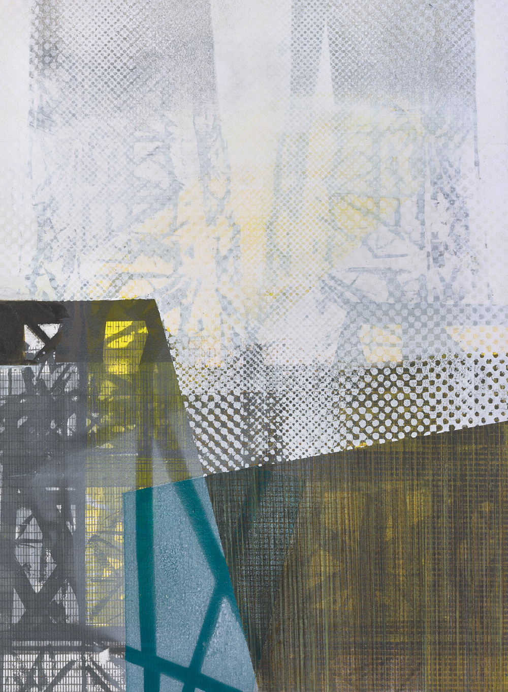 Amanda Knowles, Duwamish Study III, 2018, screen print, graphite, acrylic on paper, 14.75 x 10.75 inches, $650.