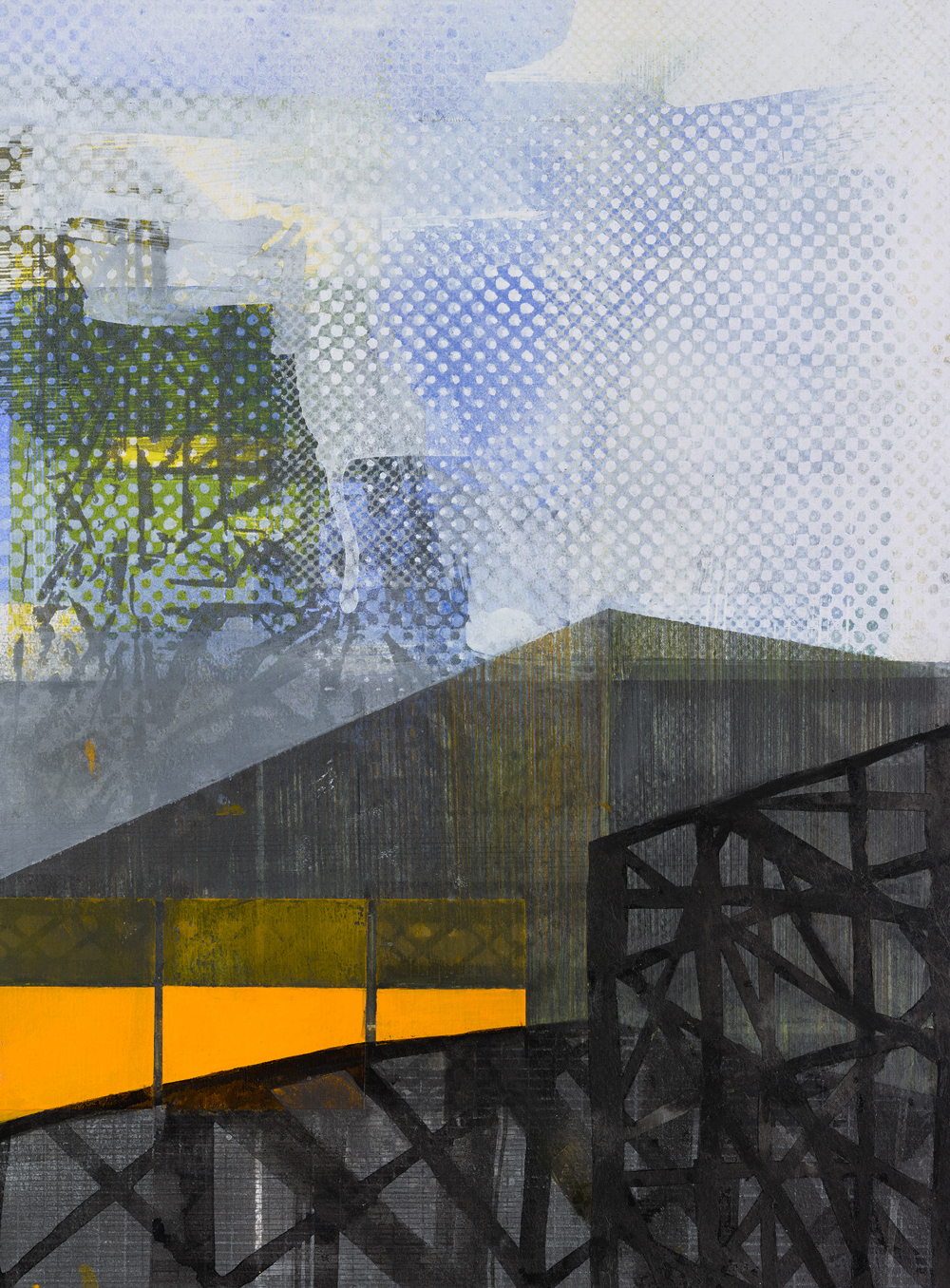 Amanda Knowles, Duwamish Study VI, 2018, screen print, graphite, acrylic on paper, 14.75 x 10.75 inches, $650.