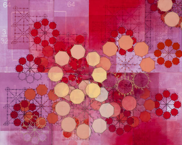 Amanda Knowles, Partial List II, 2011, mixed media on paper, 22 x 27.5 inches, framed, $1500.