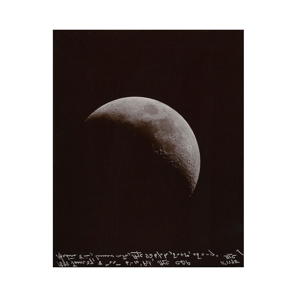 Linda Connor, Moon, June 27, 1895/1996; Courtesy of the University of California Observatories, Lick Observatory, printing-out paper print, 14 x 11 inches, $3000.
