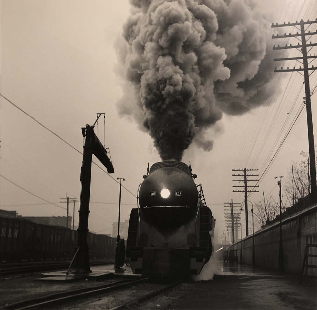 O. Winston Link, The Cavalier Leaves Williamson, West Virginia on a Rainy Day (NW 2024), 1958 / 1997, gelatin silver print 15.5 x 15.5 inches, signed stamped verso, price on request