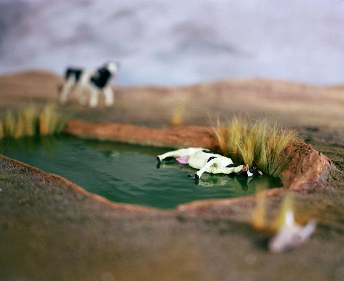 Lori Nix, Cow, 1998
