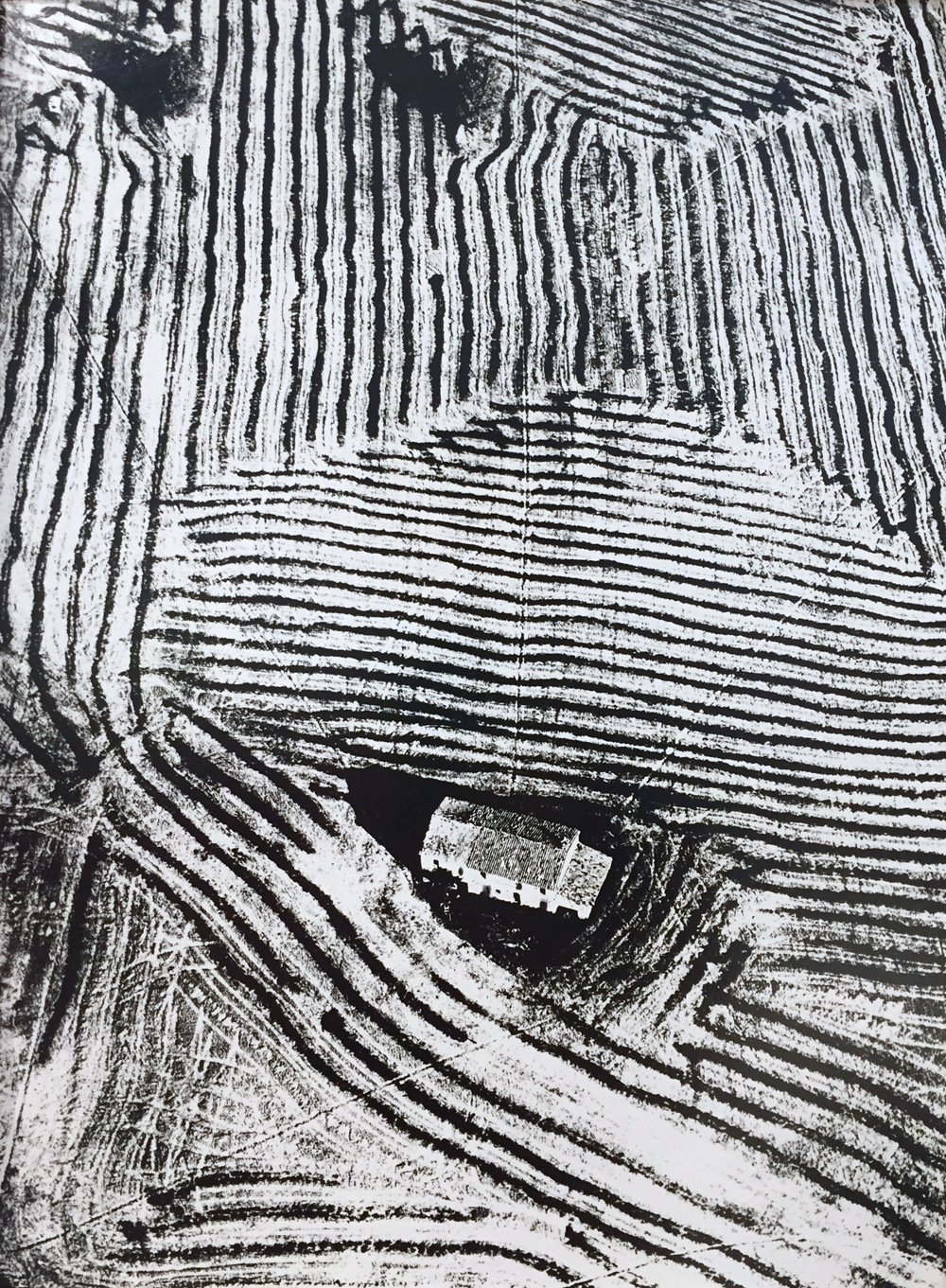 Mario Giacomelli, La Minaterra, circa 1970, gelatin silver print, 15.75 x 11.75 inches, stamped, titled and signed, verso, $5000.