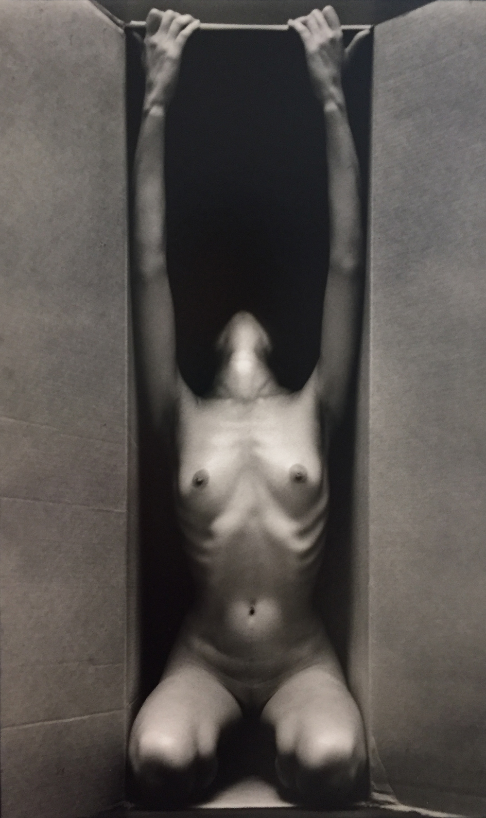 Ruth Bernhard, In the Box – Vertical, 1962, toned gelatin silver print, 13.5 x 8.5 inches, price on request