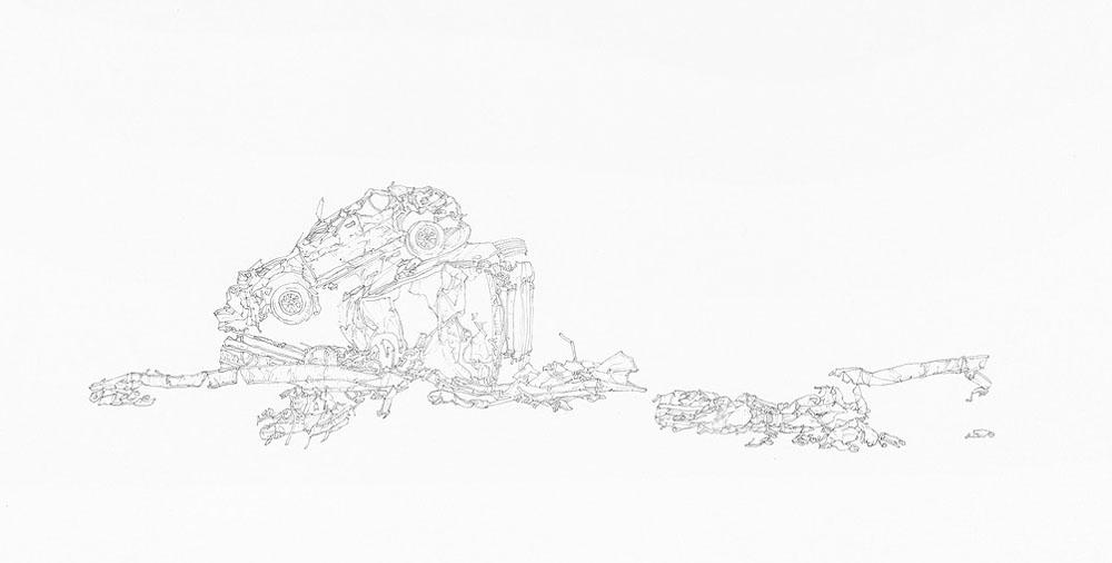 Samantha Scherer, Remember (detail), 2014, 22 x 22 inches, framed, $850.