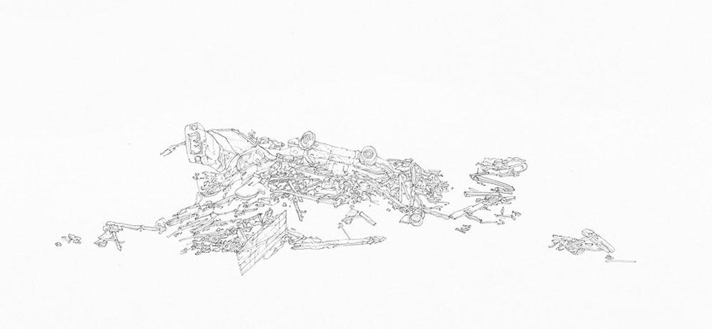 Samantha Scherer, Wide Open (detail), 2013, 22 x 22 inches, framed, $850.