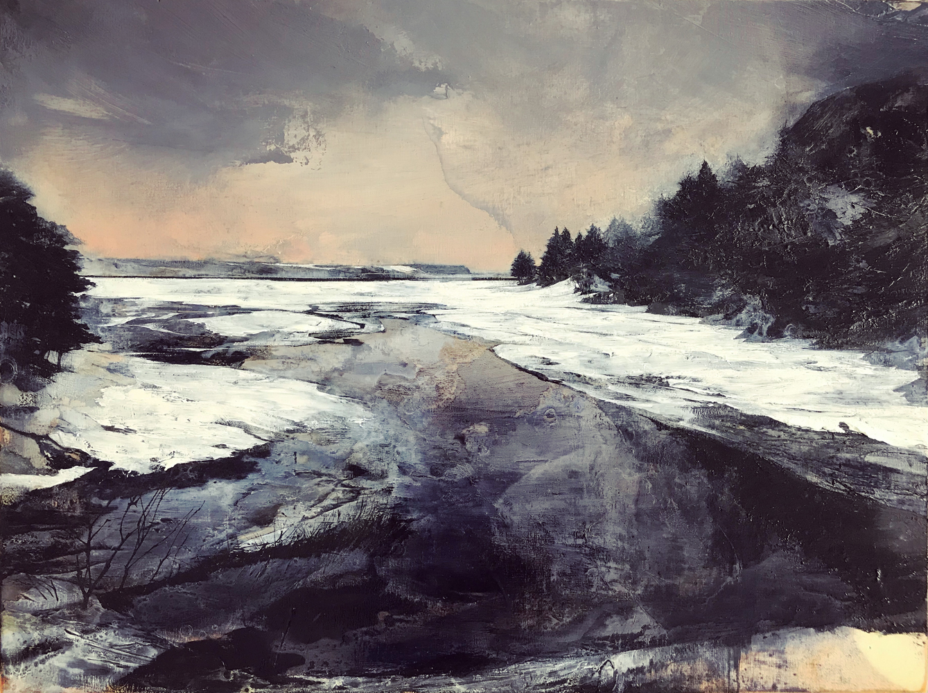 Mark Thompson, Arduous Clarity, 2020, oil on panel, 18 x 24 inches, $3750.