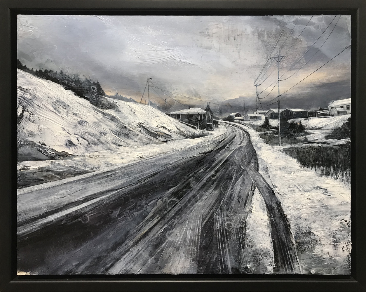 Mark Thompson, Closer Still, 2020, oil on panel, 14 x 18 inches, framed, $2000.