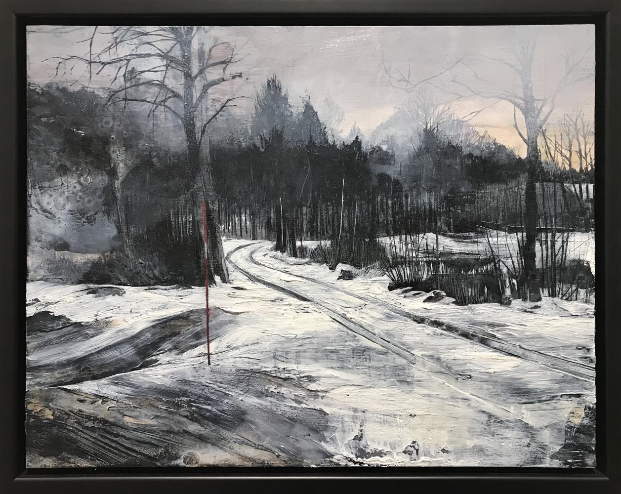 Mark Thompson, Forgiving, 2020, oil on panel, 14 x 18 inches, framed, $2000.