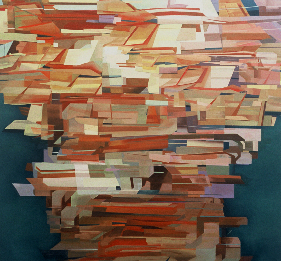 Thuy-Van Vu, Untitled (1000 tags), 2006, oil on canvas, 76 x 71 .5 inches, price on request