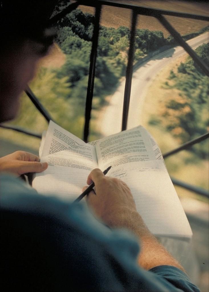 JoAnn Verburg, Writing with Tagore above the Flaminia, 1994