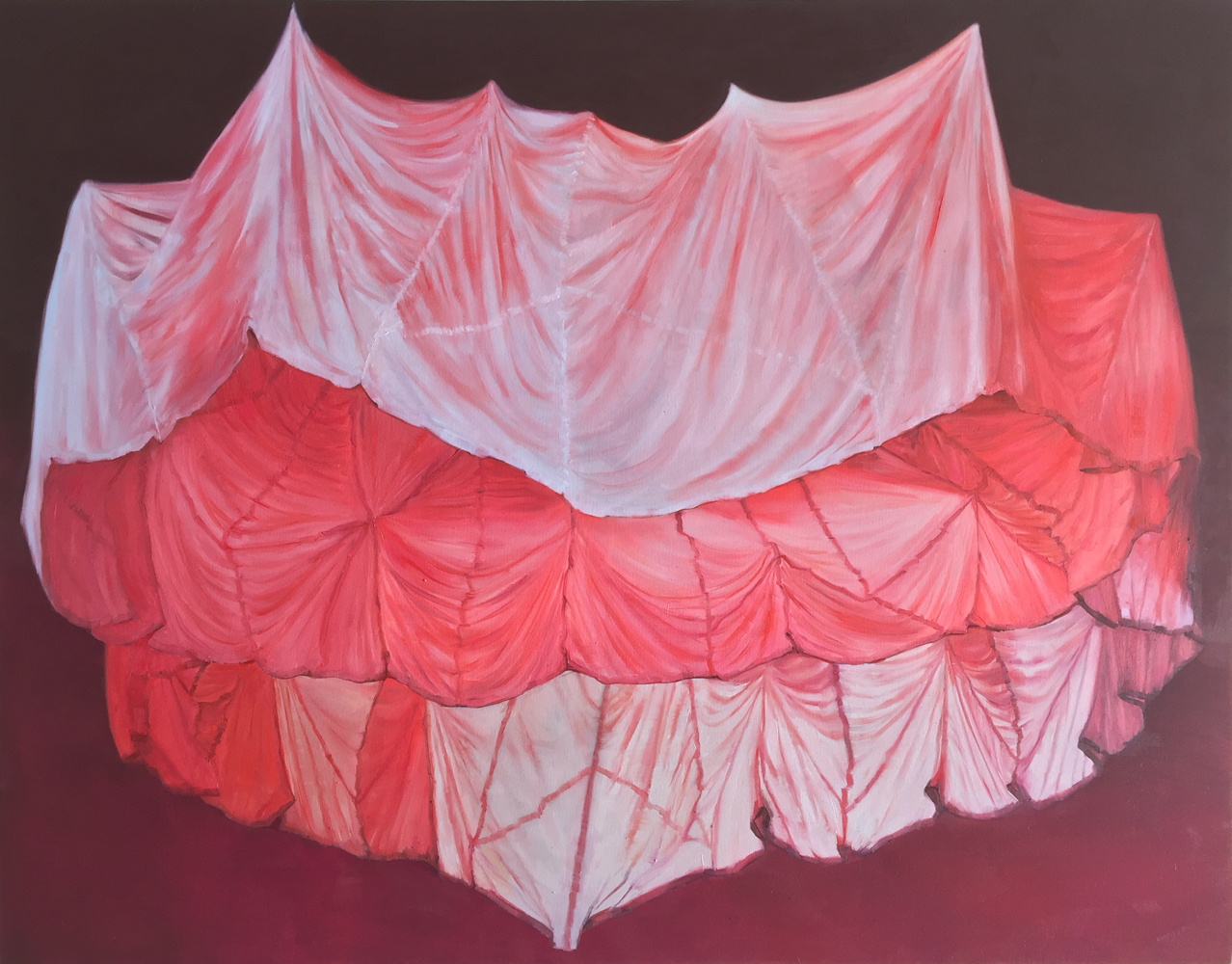 Thuy-Van Vu, Good as Any Other, 2018, oil on canvas, 51 x 64 inches, $5500.