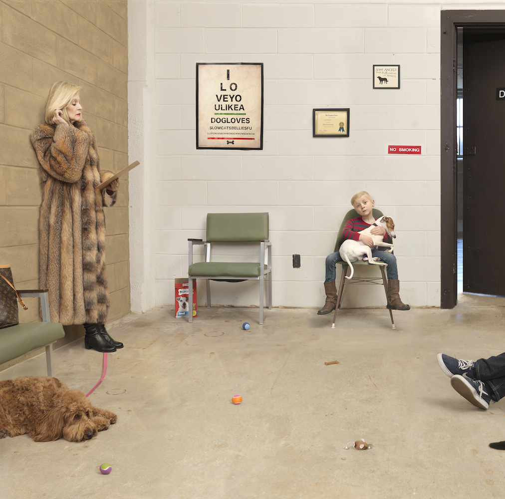 Julie Blackmon, Waiting Room, 2016, 22×22″, 32×32″, 40×40″, editions of 10, 7, 5, price on request