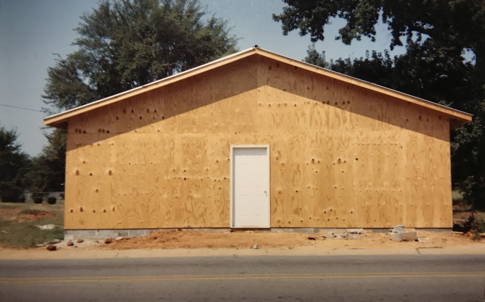 "William Christenberry, Building that Replaces ""The Underground Club"", Greensboro, Alabama, 1999, chromogenic brownie print, 3.5 x 5 inches, price on request"