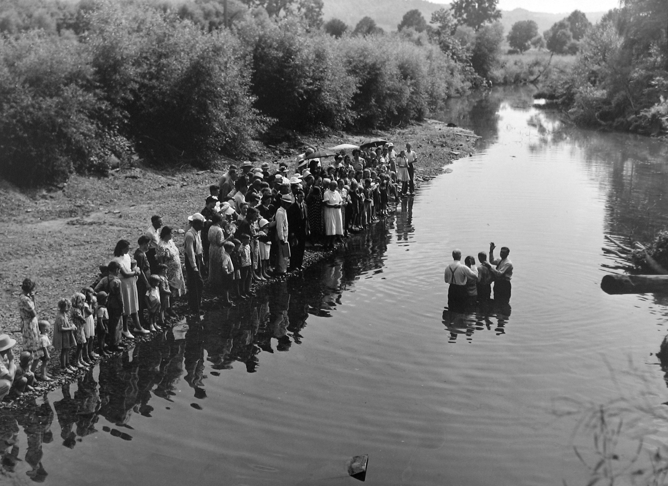 Marion Post Wolcott, Baptism in Triplett Creek, KY, 1940 gelatin silver print, 11 x 14 inches