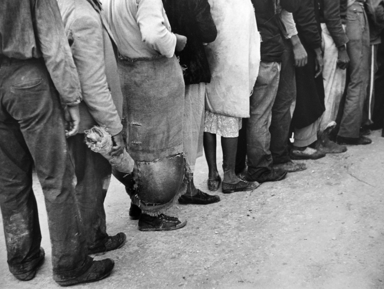 Marion Post Wolcott, Migrant Workers Waiting for Pay, FL, 1939 gelatin silver print, 11 x 14 inches