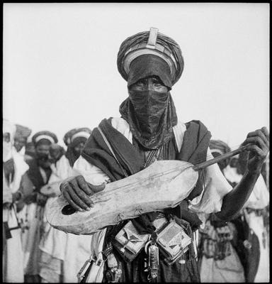 Hector Acebes, Tuarag Man, Mali, 1949 gelatin silver print, 20 x 24 inches, embossed modern print