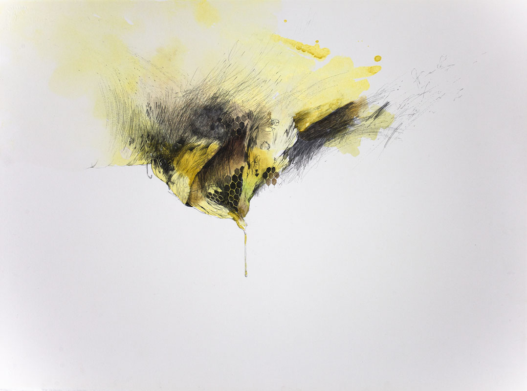 Gala Bent, Heavy, Honey, 2012, gouache, watercolor and graphite on paper, 22 x 30 inches, price on request