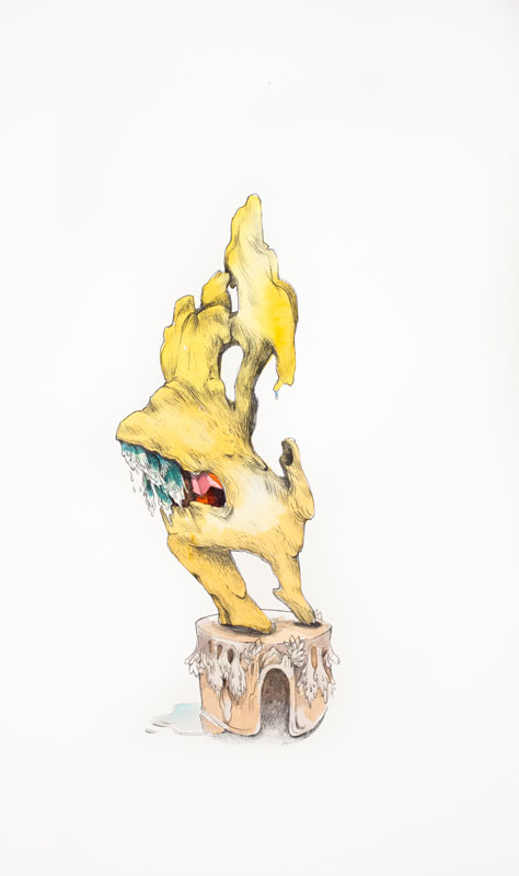 Gala Bent, Hydrophiliac, 2012, watercolor and graphite on paper, 15.25 x 9 inches, framed, $925.