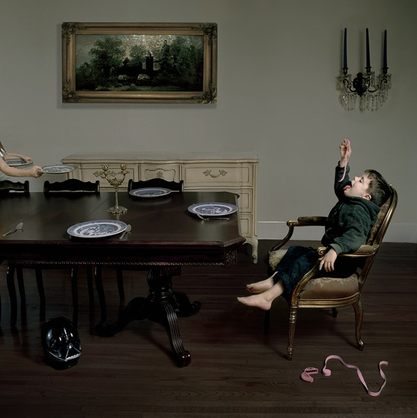 Julie Blackmon, Bubble Tape, 2005, archival pigment print, 24 x 24 inches, edition of 25 (SOLD)