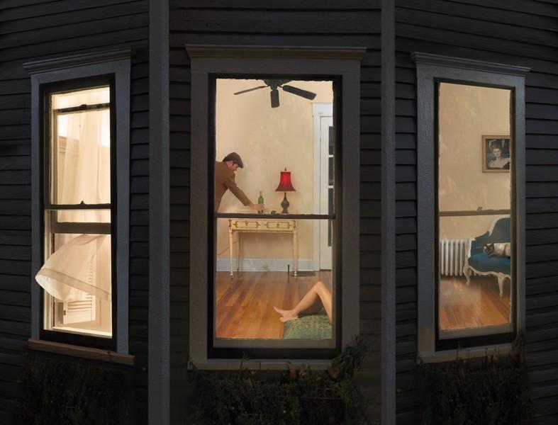 Julie Blackmon, Night Windows, 2008