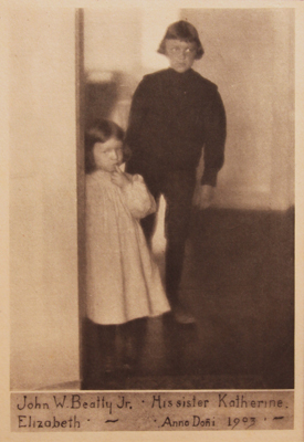 Clarence White, The Beatty Children, 1905 from Camera Work IX, 1905, photogravure on tissue paper, 7.5 x 5 inches