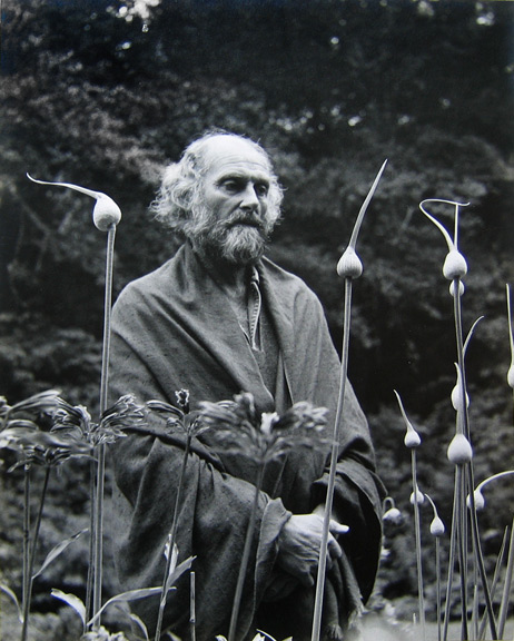 Imogen Cunningham, Morris Graves in His Leek Garden, 1973, signed by artist, price on request