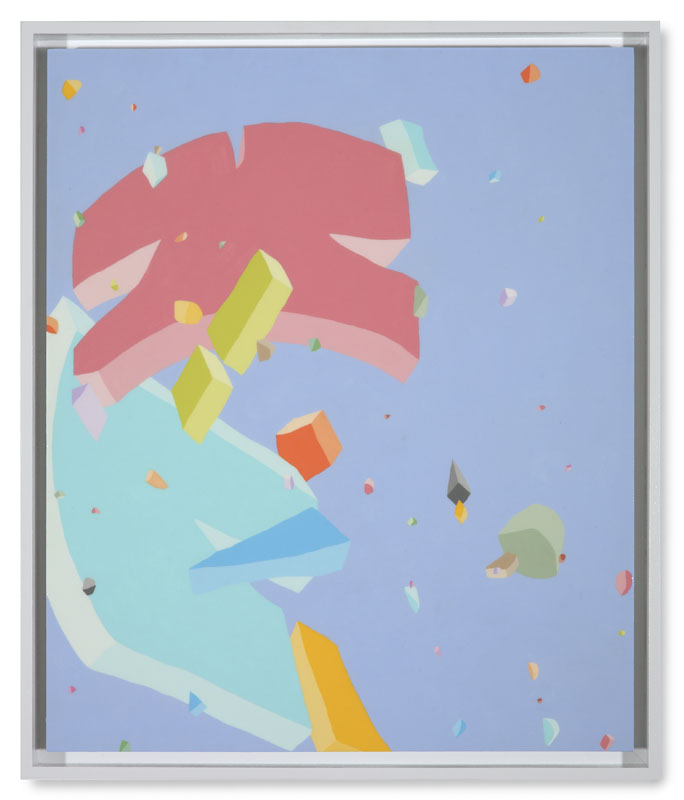 Blake Haygood, Messaging The Expectations, 2013, acrylic on panel, 25.75 x 21.75 inches, framed $2,250.