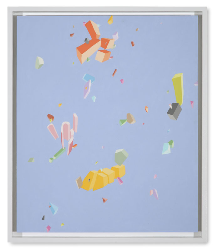 Blake Haygood, The Results, 2013, acrylic on panel, 25.75 x 21.75 inches, framed, $2,250.