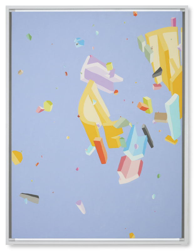 Blake Haygood, We Plan For This, 2013, acrylic on panel, 41.75 x 31.75 inches, framed, (On Hold)