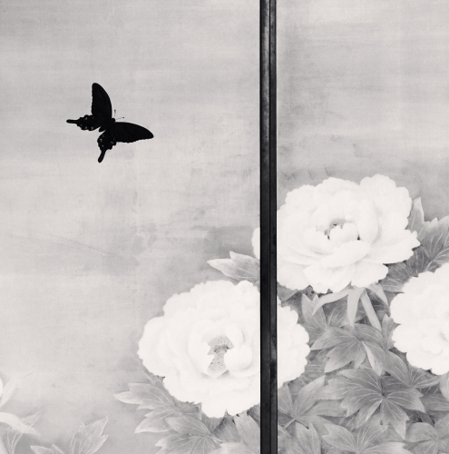 Michael Kenna, Butterfly and Peonies, Kongobuji, Koyasan, Japan. 2006