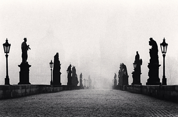 Michael Kenna, Charles Bridge, Study 1, Prague, Czechoslovakia, 1982