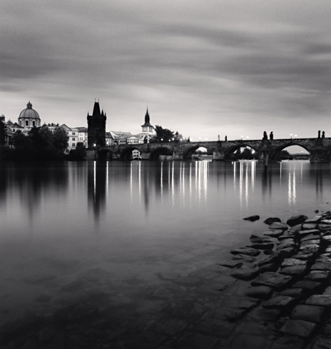 Michael Kenna, Charles Bridge, Study 12, Prague, Czech Republic, 2008