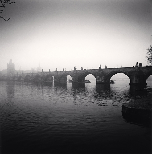 Michael Kenna, Charles Bridge, Study 8, Prague, Czechoslovakia, 1992